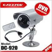 Waterproof LED Array DVR Camera Motion Detection SD Card Storage TV-output