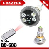 BC-683 Bulb CCTV Security DVR Camera with Remote Control Light