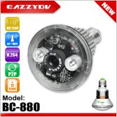 BC-880 Bulb WiFi IP Network DVR Camera, bulb DVR camera with motion detection