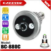 BC-880C Bulb WiFi Network DVR Camera with Cover, bulb IP camera with APP control, motion detection, SD card, DVR function