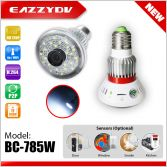 BC-785W HD720P WiFi Bulb IP Network DVR Camera with 5W White Light + Wireless Alarm Sensors