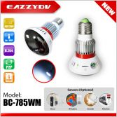 BC-785WM HD720P Mirror WiFi Bulb IP Network DVR Camera with 5W White LED+wireless alarm sensor