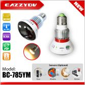 BC-785YM HD720P Mirror WiFi Bulb IP Network DVR Camera with 5W Warm Light+Wireless alarm sensors